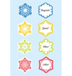 Snowflake gift card or present card vector