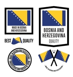 Made in bosnia and herzegovina label set vector