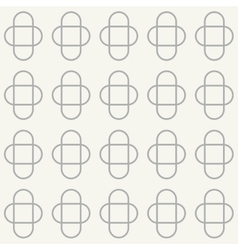 Seamless pattern with ovals vector