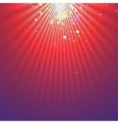 Abstract light beams with falling stars vector