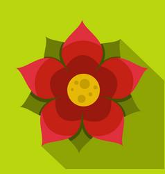 Amaranth flower icon flat style vector