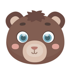 bear muzzle icon in cartoon style isolated on vector image vector image