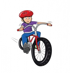 Boy on bike vector