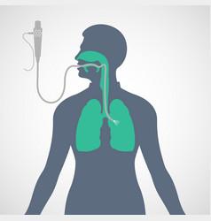 Bronchoscopy logo icon vector
