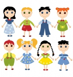 cartoon children set vector image