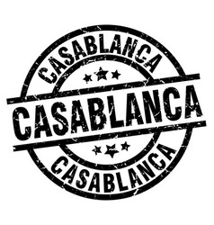 Casablanca black round grunge stamp vector
