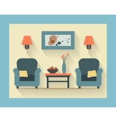 Chairs with small table vector image vector image