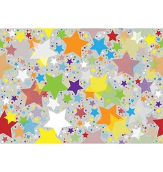 Colored Stars Texture vector image vector image