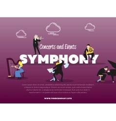 Concerts and events symphony banner vector