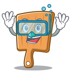 Diving kitchen board character cartoon vector