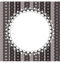 Elegant doily on lace background vector