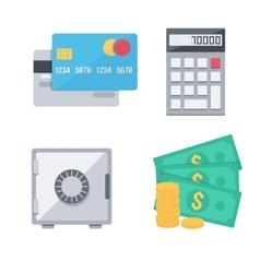 Finance money icons set vector image vector image
