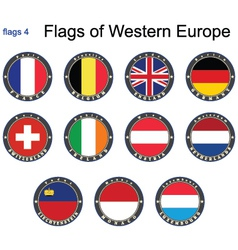 Flags of Western Europe vector image vector image
