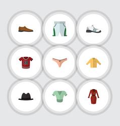 Flat dress set of lingerie panama sneakers and vector