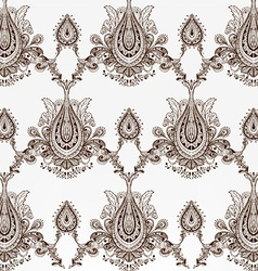 Hand drawn floral wallpaper vector