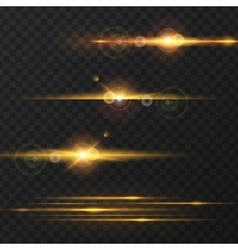 Light effect flare lighting vector image vector image