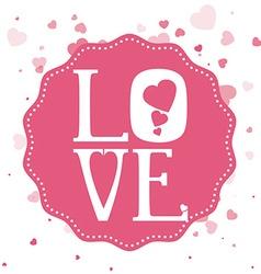 Love digital design vector