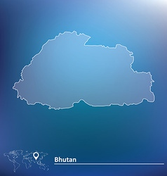 Map of bhutan vector