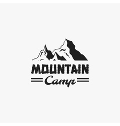 Mountain Camp Badge vector image