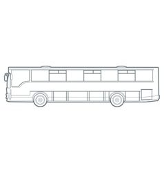 Outline city bus vector image vector image