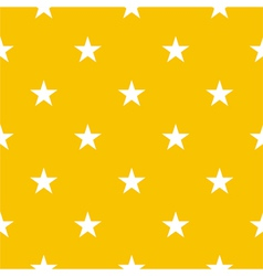 Seamless pattern with stars on yellow background vector image vector image