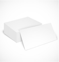 Stack of business cards with shadow template vector