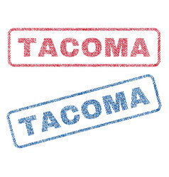 Tacoma textile stamps vector