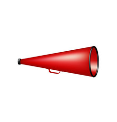 vintage megaphone in red design vector image
