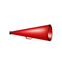 vintage megaphone in red design vector image vector image