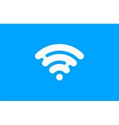 Wi-Fi network icon Blue Logo Creative logo vector image