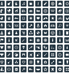 100 baby kids icons set vector