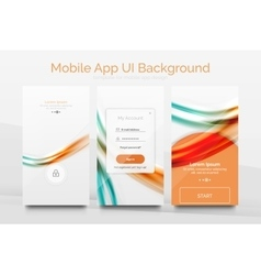 Mobile application interface background design vector