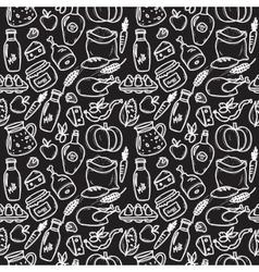 organic food doodle style chalkboard vector image