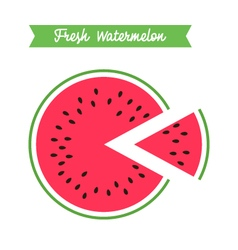 Fresh watermelon logo template vector