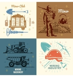 Mining industry concept vector