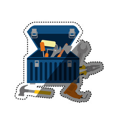 Tools kit box vector