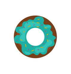 cute sweet colorful tasty donut diet dessert vector image
