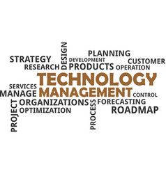 Word cloud - technology management vector