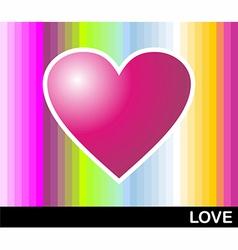 Loving pop heart vector image