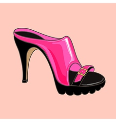 Fashion shoes pink vector