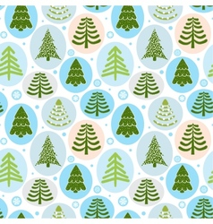 Background Christmas trees vector image