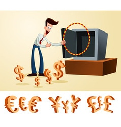 luring money vector image