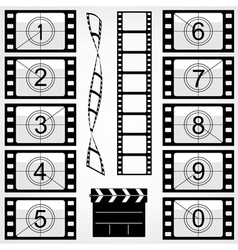 Elements of cinema vector