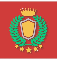 crown and laurel wreath vector image