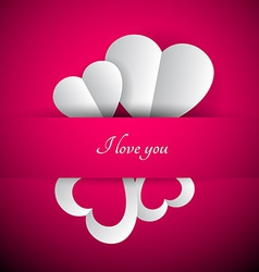 Purple valentines background vector