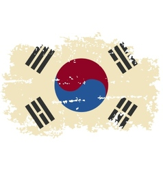 South korea grunge flag vector