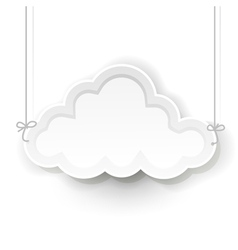White cloud vector