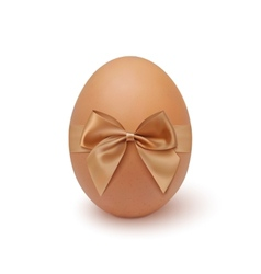 Realistic egg icon with ribbon vector
