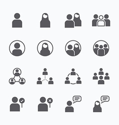 people Icon flat line icons set concept vector image