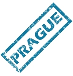 Prague rubber stamp vector